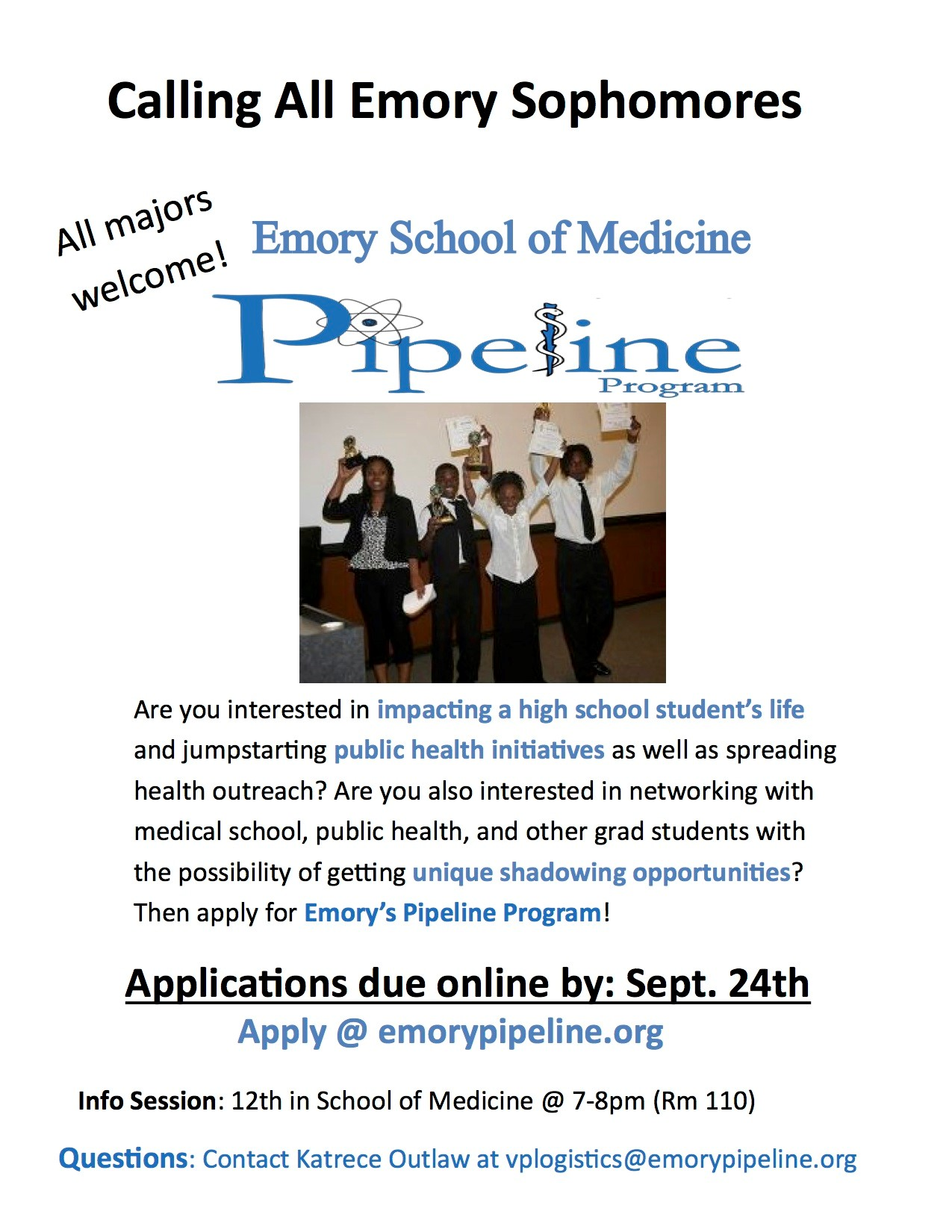 the emory pipeline program essay The bba application essay by sydney hoff prompt: the bba program seeks students who are fully engaged in the emory or oxford communityattach an essay describing the ways in which you have contributed to the campus community since entering emory or oxford.